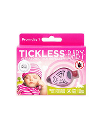 TICKLESS Baby Ultrazvukový odpudzovač kliešťov pre deti Ružový