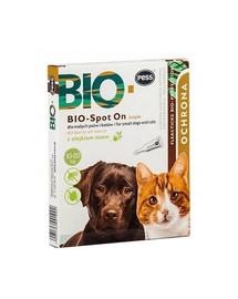 PESS BIO Spot-on kliešte a blchy pre stredné a veľké psy 4x2,5 g