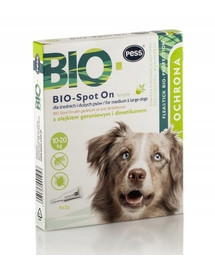 PESS BIO Spot-on kliešte a blchy pre stredné a veľké psy 4x2 g