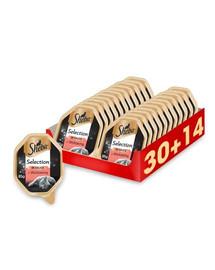 SHEBA Selection in Sauce s hovädzím mäsom 44 x 85g (30 + 14 zadarmo)