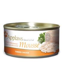 APPLAWS Cat Mousse Tin Chicken 70 g x 12