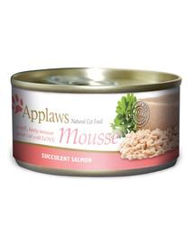 APPLAWS Cat Mousse Tin Salmon 70 g x 12