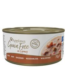 APPLAWS Cat Tin Grain Free 70 g x 12 hovädzie v omáčke
