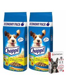 CHAPPI Hydinové a zelenina 2x13,5kg + Dr PetCare MAX Biocide Collar Obojok proti blchám a hmyzu pre psov strednej rasy 60 cm ZADARMO