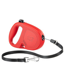 FERPLAST Flippy One Cord Mini Vodítko  5 m červená farba
