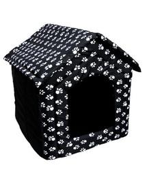 PETSBED Čierny pelech pre psa s labkami 60 x 57 cm