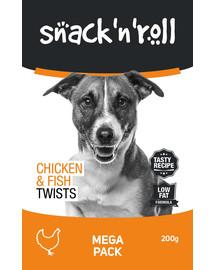 SNACK & ROLL Chicken and Fish Twists 3x200 g 2+1 ZADARMO