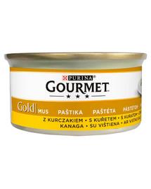 GOURMET Gold Mousse s kuracím mäsom 24x85 g