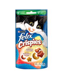 FELIX Crispies Hovädzie a kura 8 x 45g