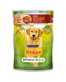 FRISKIES Vitafit Adult s jahňacím mäsom a mrkvou v omáčke pre psa 20x100g