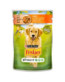 FRISKIES Vitafit Adult s kuracím mäsom a mrkvou v omáčke pre psov 20x100g