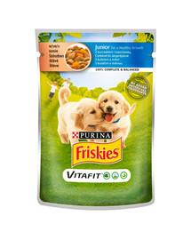 FRISKIES Vitafit Junior s kuracím mäsom a mrkvou v omáčke pre šťeňatá 20x100g
