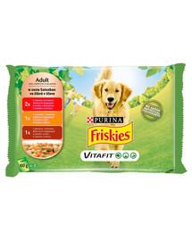 FRISKIES Vitafit Adult Mix mäsových príchutí v omáčke pre psov 40x100g