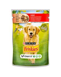 FRISKIES Vitafit Adult s hovädzím mäsom a zemiakmi v omáčke pre psa 20x100g