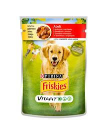 FRISKIES Vitafit Adult s hovädzím mäsom a mrkvou v želé pre dospelých psov 100 g