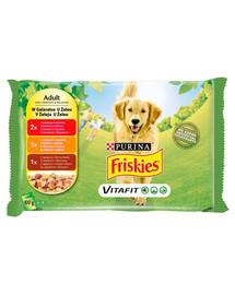 FRISKIES Vitafit Adult Mix chutí v želé pre dospelých psov 4x100g