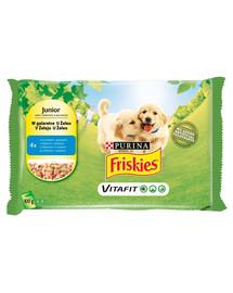 FRISKIES Vitafit Junior s kuracím mäsom a hráškom v želé pre šteňatá 4x100g