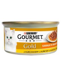 GOURMET Gold Sauce Delights Krmivo pre mačky s kuracím mäsom 85 g