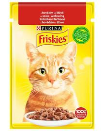 FRISKIES Krmivo s hovädzím mäsom v omáčke  pre mačky 26x85g
