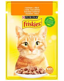 FRISKIES Krmivo s kuracím mäsom v omáčke pre mačky 85g
