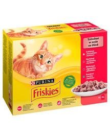 FRISKIES Mulipack mix mäsa -  Krmivo pre mačky v omáčke 72x85g