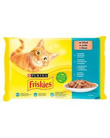 FRISKIES Multipack mix rybých príchutí  - Krmivo pre mačky v omáčke 4x85g