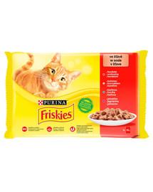 FRISKIES Mulipack mix mäsa -  Krmivo pre mačky v omáčke 4x85g