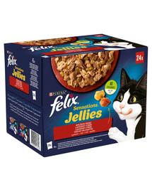FELIX Sensations Jellies Lahodný výber v želé 96x85g