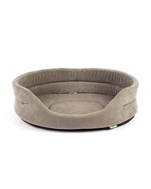 INTERZOO Pelech pre psy oválny 53x44x16 cm šedý