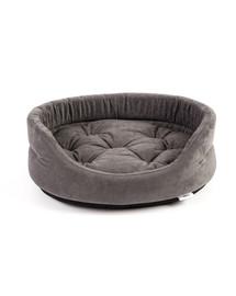 INTERZOO Pelech pre psy s vankúšom oválny 75x62x22 cm šedý