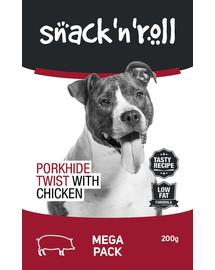 SNACK & ROLL Porkhide Twist with Chicken 3x200 g 2+1 ZADARMO