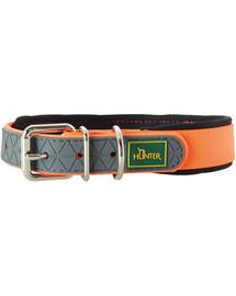 HUNTER Convenience Comfort obojok veľkosť M (50) 37-45 / 2,5cm neónový oranžový