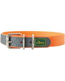 HUNTER Convenience obojok veľkosť M-L (55) 42-50 / 2,5cm neónový oranžový