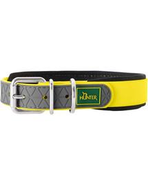 HUNTER Convenience Comfort obojok veľkosť L-XL (65) 52-60 / 2,5cm neónový žltý