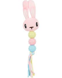 ZOLUX Plyšová hračka pre šteňa, hrkálka, ružová