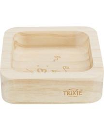 TRIXIE Drevená miska pre králiky a hlodavce; 60ml / 8x8cm