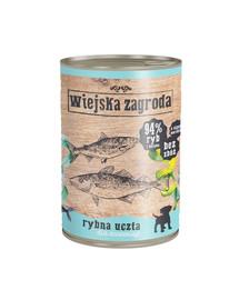 WIEJSKA ZAGRODA Rybie hody pre šteniatka 400 g