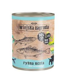 WIEJSKA ZAGRODA Rybie hody pre šteniatka 800 g