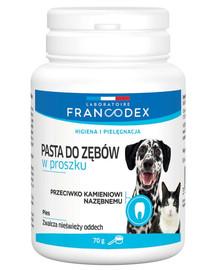 FRANCODEX Zubná pasta v prášku pre psy a mačky 70 g