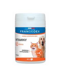 FRANCODEX Vitamíny pre psy a mačky 60 tabliet