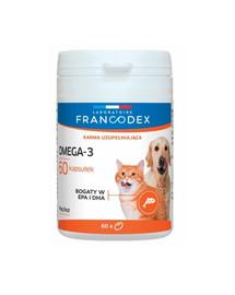 FRANCODEX Omega-3 pre psy a mačky 60 tabliet