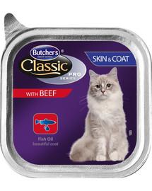 BUTCHER'S Classic Skin&Coat Cat hovädzie Paté 100 g