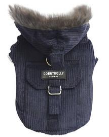 DOGGY DOLLY bunda s kapucňou, tmavo modrá, L 31-33 /46-48