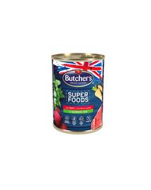 BUTCHER'S Superfoods Dog hovädzie a zelenina konz. 400 g