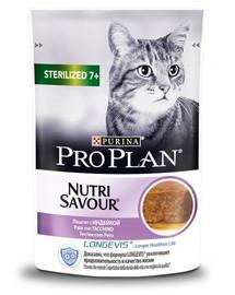 PURINA PRO PLAN Sterilised morčacie mäso 24 x 85 g pre kastrované staršie mačky 7+