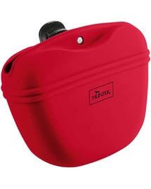 HUNTER Lugo M Silikónová taška na občerstvenie pre psy červená