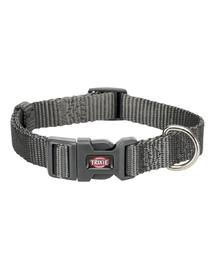 TRIXIE obojok Premium, L–XL: 40–65 cm/25 mm, grey