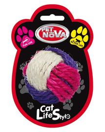 PET NOVA Sisalová guľa pre mačky 6 cm