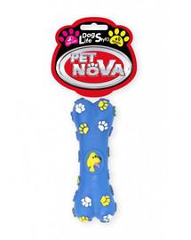 PET NOVA DOG LIFE STYLE Hračka v tvare kosti pre psov, 15cm, modrá