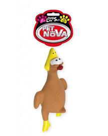 PET NOVA DOG LIFE STYLE Hračka lietajúce kurča, 26 cm, hnedé